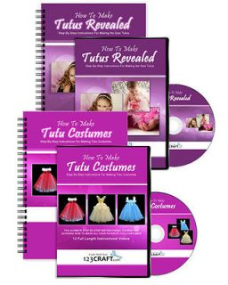 How To Make Tutus Revealed & Tutu Costumes   2 DVDs & 2 e Manuals