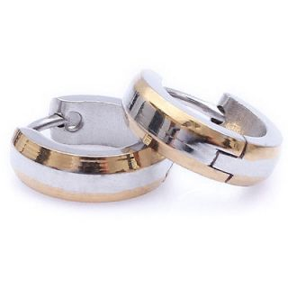 mens gold hoop earrings in Jewelry & Watches