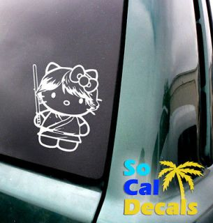 Hello Kitty Luke Skywalker Vinyl Sticker Car Laptop Decal Window Wall