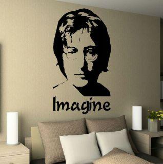 JOHN LENNON IMAGINE BEDROOM WALL MURAL GIANT ART STICKER DECAL MATT
