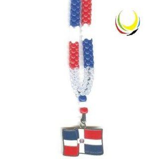 Souvenir Necklaces  DOMINICAN REPUBLIC FLAG