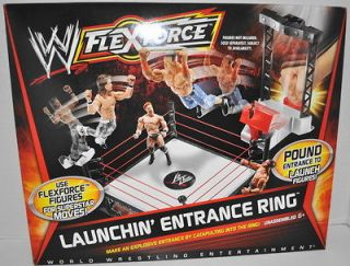 NEW WWE WRESTLING FLEXFORCE ACTION FIGURE LAUNCHIN ENTRANCE RING