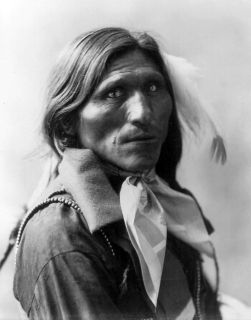 GOOSE FACE PHOTO GREAT NATIVE AMERICAN INDIAN CHIEF WESTERN PLAINS