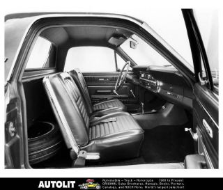1967 Ford Fairlane 500XL Ranchero Interior Factory Photo