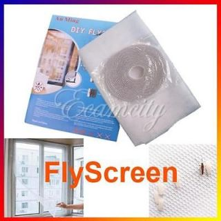 White DIY Insect Fly Bug Mosquito Door Window Net Mesh Screen Curtain