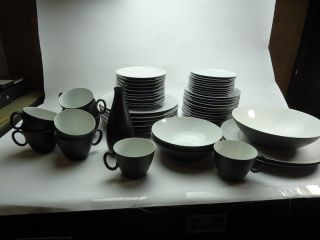 Rosenthal Raymond Loewy Continental China dinnerware set charcoal 50