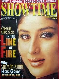 Showtime December 2001 Kareena Kapoor Shah Rukh Khan Aamir Salman Khan
