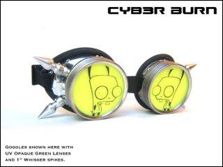 Custom Invader Zim Gir Goggles Cyber Goth Halloween Costume Rave