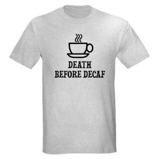 BEFORE DECAF FUNNY COFFEE DRINKING POT MACHINE MAKER ESPRESSO T SHIRT