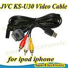 AUX INTERFACE USB RCA CABLE iPOD iPHONE JVC KS U20