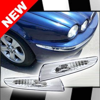 JAGUAR X TYPE BUMPER SIDE TURN SIGNAL MARKER CRYSTAL CLEAR CHROME