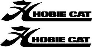 Qty 2 Hobie Cat Boat Vinyl Sticker Decal 24