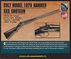 REMINGTON MODEL 1889 SXS HAMMER SHOTGUN Firearms CARD