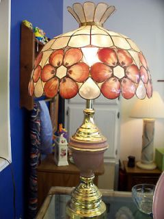 Antique Natural Sea Shell Lamp Shade Mother of Pearl