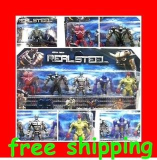 Real Steel Twin Cities Midas Zeus Noisy Boy Atom Robot Figures