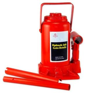 20 Ton Low Profile Bottle Jack Hydraulic Automotive Shop Lift Tool
