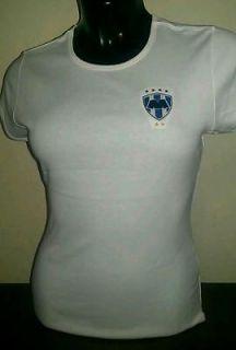 Rayados Monterrey Ladies Tee Shirt 5 STARS EMBROIDERED LOGO Rubenchoo