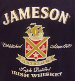 Jameson Irish Whiskey T Shirt Ireland Black Mens Sz S M r