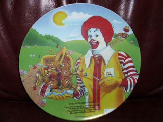 Vintage Ronald McDonald Plate The McNugget Band 1989