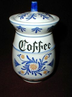 Royal Sealy HERITAGE Blue Onion Japan Coffee Canister