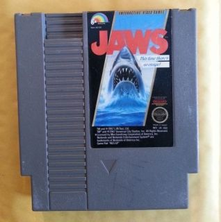 Jaws (Nintendo, 1987) Super Dangerous Shark   great SHOOTER game!