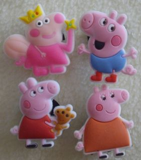 PC PEPPA PIG Shoe Charms Fit Crocs Jibbitz!