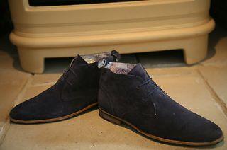 Jones Mens Blue Suede Chukka Boots Shoes Size 8