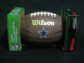 New Wilson NFL Official Size Leather Dallas COWBOYS TEAM LOGO