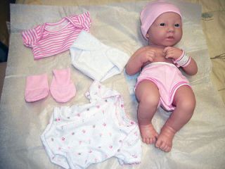 Berenguer La Newborn 14 Baby Girl Doll Lifelike Real ing w
