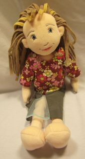 EUC Manhattan Toy Fiona Lilydoll Doll 16 Plush Flower Shirt Green