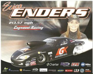 2012 ERICA ENDERS GK MOTORSPORTS CAGNAZZI RACING POSTCARD! 1ST VERSION