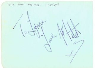 MITCH MITCHELL( JIMI HENDRIX EXPERIENCE) SIGNED ALBUM PAGE   Very