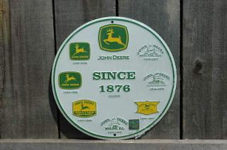 METAL JOHN DEERE LOGOS SINCE 1876 SIGN TIN SIGNS