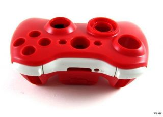 XBOX 360   Red Controller Mod Shell w/ Buttons Sticks NEW Full Housing
