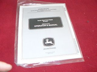John Deere 54 Inch Quick Hitch Front Blade Operators Manual