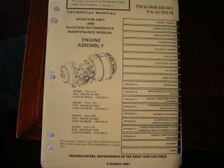 T53 Gas Turbine Jet Engine Technical Maintenance Manual