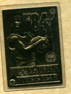 michael jordan 22kt gold card