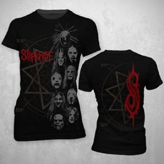 SLIPKNOT STACKED HEADS JUNIOR TEE SHIRT S M L XL