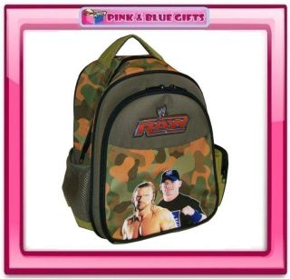 NEW WWE RAW JOHN CENA LARGE DELUXE PADDED BACKPACK SCHOOL KIDS