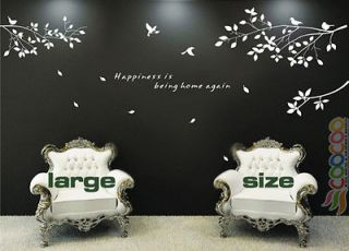 Wall Decor Decal Sticker Removable tree branches birds dc0305 large