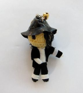 Jackson Pop Dance String Doll Keychain Voodoo Doll Keyring phone charm