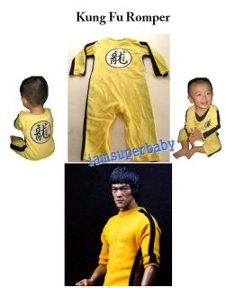 BABY BOY BRUCE LEE KUNG FU TRACK SUIT ROMPER 12 30M