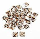 130 pcs. 10mm Square Patterned Acrylic Button Flatback Rhinestones