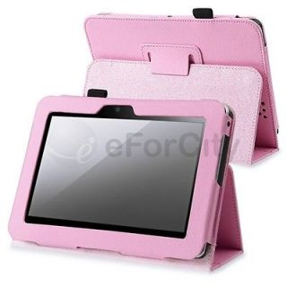 Pink PU Leather Stand Case Cover For  Kindle Fire HD 7 Inch