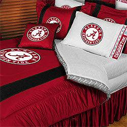 3pc NCAA ALABAMA CRIMSON TIDE Queen Comforter Shams Decor COLLEGIATE