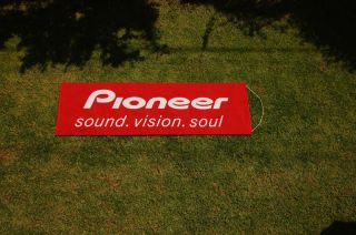 Pioneer advertising banner, sign, flag, flyer, car home stereo, New.