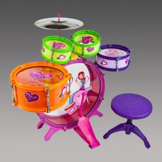 8pc Kids Girls Drum Set Musical Instrument Toy Playset Pretend Play