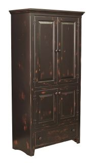 Primitive Kitchen Pantry Solid Wood Storage Cupboard Cabinet Country