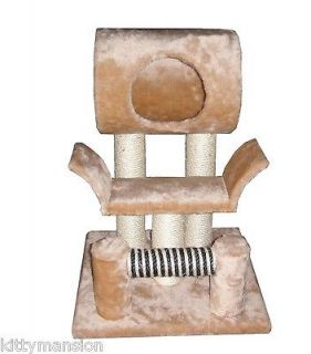 Little Rock Cat Tree Furniture Condo Scratching Post by Kitty Mansions