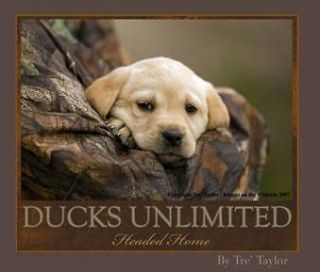 Ducks Unlimited T Shirt Camo Headed Home Lab Puppy NWT